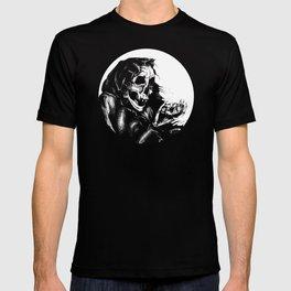 Skeleton Holding Diamond T-shirt