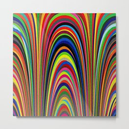 Colorful Arches Metal Print