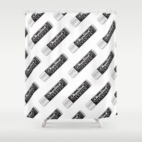 lesbian Shower Curtains featuring CHAPSTICK LESBIAN by Studio 566 / Penny Collins