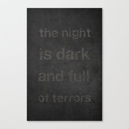 """Night Terrors"" Print Canvas Print"