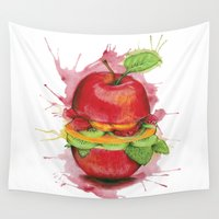 burger Wall Tapestries featuring burger by JBdesign