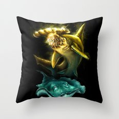 Hummer Sharks Throw Pillow