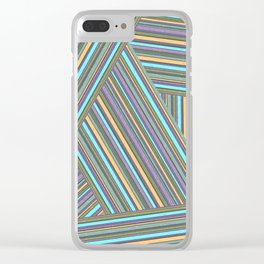 Abstract striped pattern. 4 Clear iPhone Case