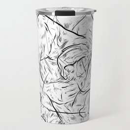 One hand in two pockets. Travel Mug