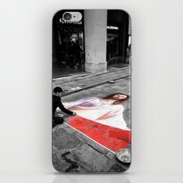 Street Art in Bologna Black and White Photography Color iPhone Skin