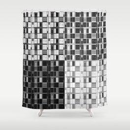 Fun Black-Cuadricula Shower Curtain