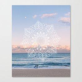Twilight surf mandala Canvas Print