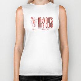 McVan's Nite Club in Red Biker Tank