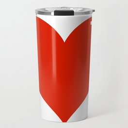 Heart Sticker Travel Mug