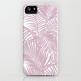 Modern tropical lavender palm tree floral iPhone Case