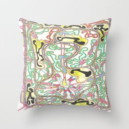 Light in the Black Throw Pillow