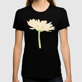 Cute Daisy Flower on the Side Illustration T-shirt