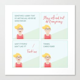 Thanks, Carrie Canvas Print