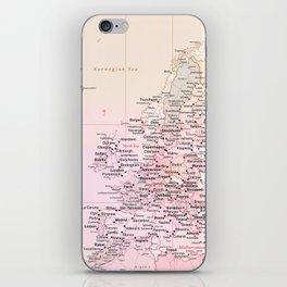 Rose Word Map Europe iPhone Skin