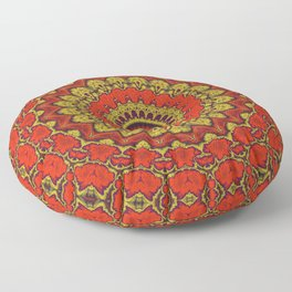 Mandala Fractal in Indian Summer 03 Floor Pillow