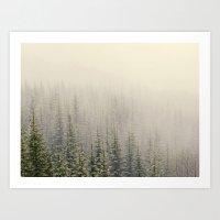 mountain Art Prints featuring Mountain Haze by Kurt Rahn