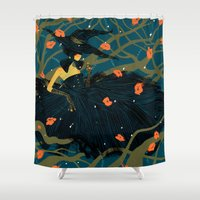 witch Shower Curtains featuring Witch by Shaina Anderson