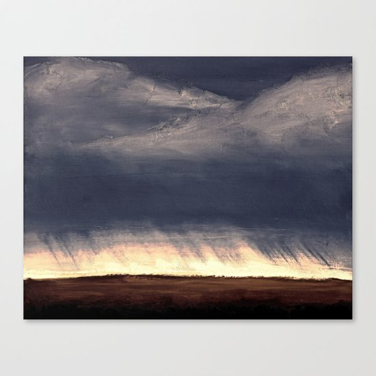 Storm Over Saskatchewan Fields Canvas Print