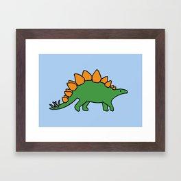 Cute Stegosaurus Framed Art Print