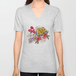 Farmers Market Bouquet 1 Unisex V-Neck