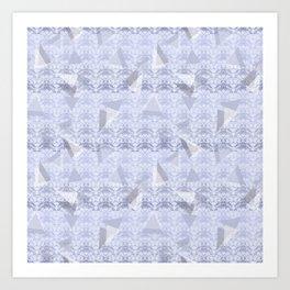 Floral Lace Collection - Blue Art Print
