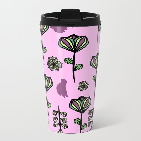 Floral joy Metal Travel Mug