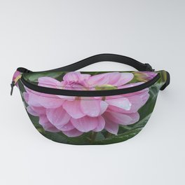 Fresh Rain Drops - Pink Dahlia Two Fanny Pack