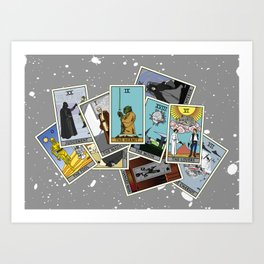 Tarot Cards - Star Wars Edition Art Print
