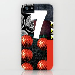 RED #THE 7 SERIES iPhone Case
