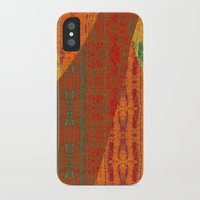 banana leaf iPhone & iPod Cases featuring Rakhi Banana Leaf with Red by Pistachia