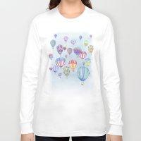 ballon Long Sleeve T-shirts featuring Hot Air Ballon Festival by J Square Presents