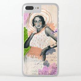 La vie est une belle femme Clear iPhone Case