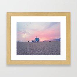 Malibu Sunset Framed Art Print