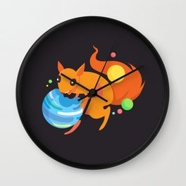 Eater of Worlds Squirrel of Doom Wall Clock