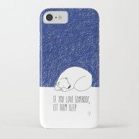 sleep iPhone & iPod Cases featuring Sleep by Anais Moods