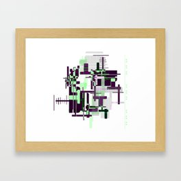 Mint Green City Framed Art Print