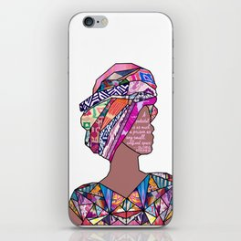 Woman in Colors - 7 - A pedestal is as much a prison as any small, confined space. iPhone Skin
