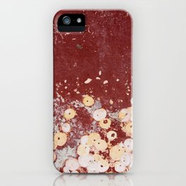 White Dots on Red - JUSTART (c) iPhone Case