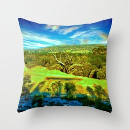 Bushland Landscape in Perth Western Australia Throw Pillow