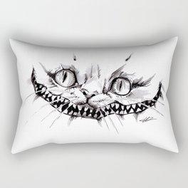 Cheshire Smile Inktober Drawing Rectangular Pillow