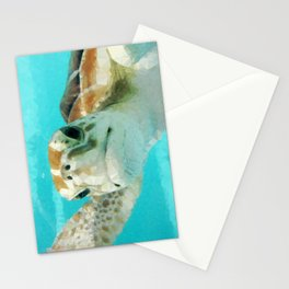 Geometric Sea Turtle Stationery Cards