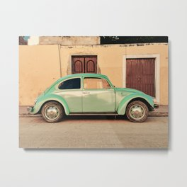 Vintage Beetle (Color) Metal Print