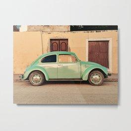 Vintage Beetle (Color) Metal Print