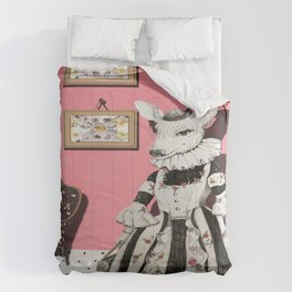 Deer Lady  Comforters