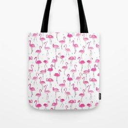 Watercolour Flamingoes Tote Bag
