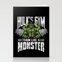 gym Stationery Cards featuring Hulk's Gym by Corey Courts