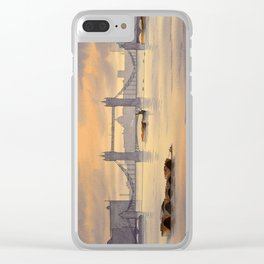 Tower Bridge and St Paul's Cathedral London Clear iPhone Case