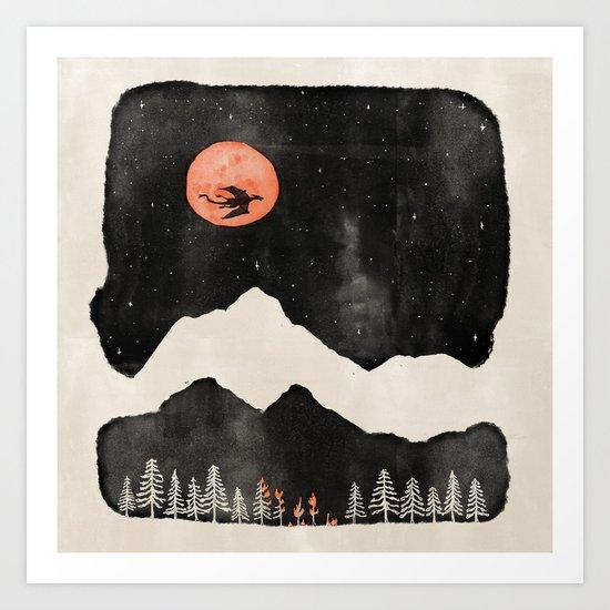 Hunter's Moon... Art Print
