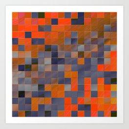 little colored squares -3- Art Print