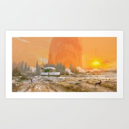 Sunset Vista, Alterslavia Art Print